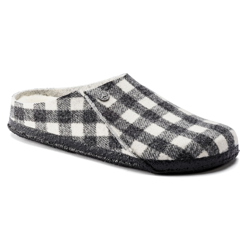 PLAID WHITE ZERMATT SHEARLING