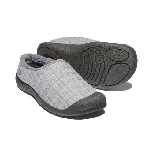 GREY FELT PLAID HOWSER WRAP SLIDE - Perspective 2