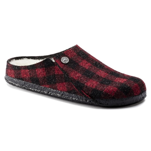 PLAID RED/NATURAL ZERMATT SHEARLING