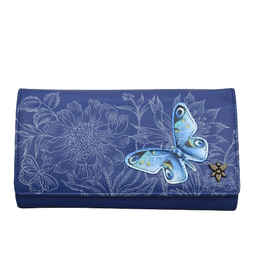 GARDEN OF DELIGHTS TRIPLE FOLD CLUTCH WALLET
