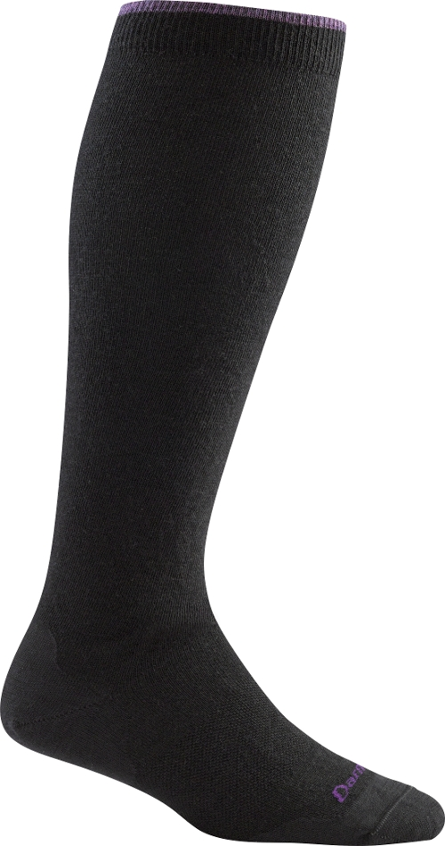 BLACK SOLID KNEE HIGH
