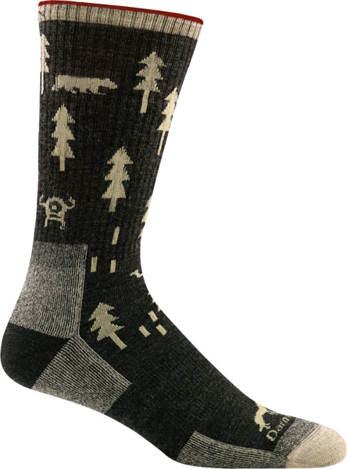 BLACK ABC BOOT SOCK