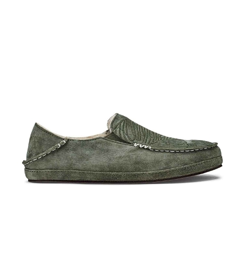DUSTY OLIVE / MONSTERA NOHEA SLIPPER