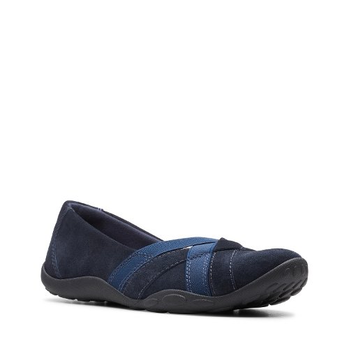 Picture of NAVY SUEDE HALEY JAY