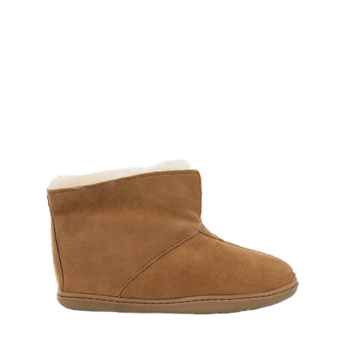 GOLDEN TAN SHEEPSKIN ANKLE BOOT - Perspective 3