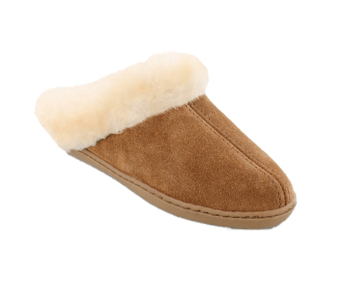 GOLDEN TAN SHEEPSKIN MULE