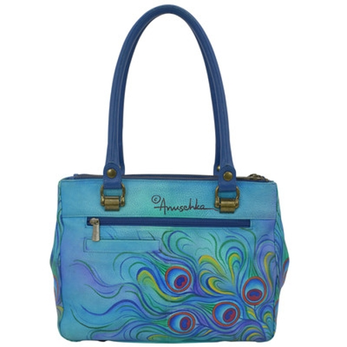 JEWELED PLUME 3 COMP MED TOTE - Perspective 2