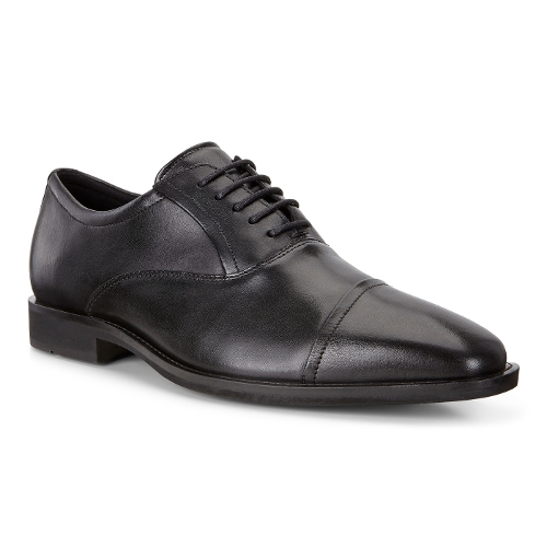 BLACK CALCAN CAP TOE