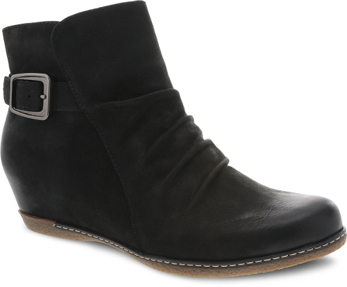 BLACK BURNISHED NUBUCK LIA