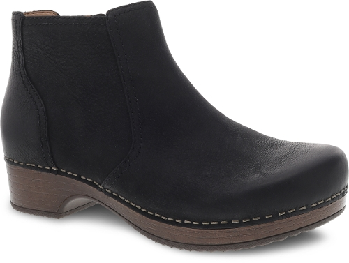 BLACK BURNISHED NUBUCK BARBARA