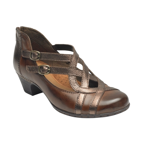 BROWN MULTI ABBOTT CURVY SHOE