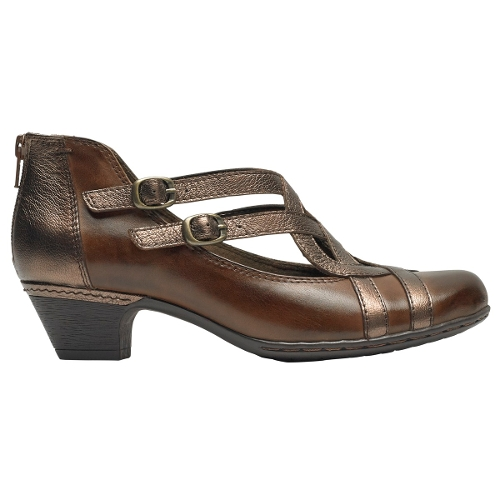 BROWN MULTI ABBOTT CURVY SHOE - Perspective 2