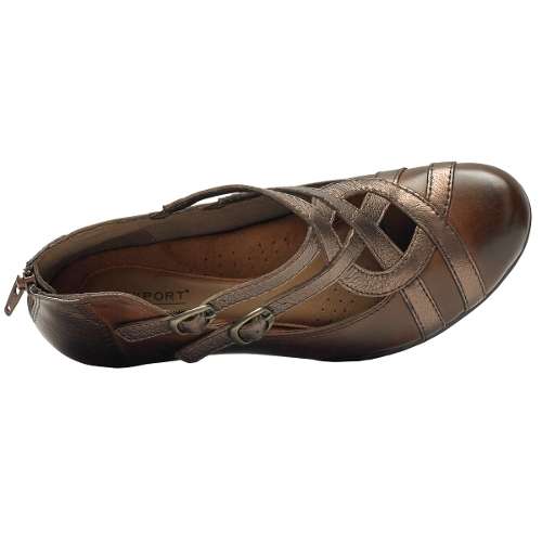 BROWN MULTI ABBOTT CURVY SHOE - Perspective 3