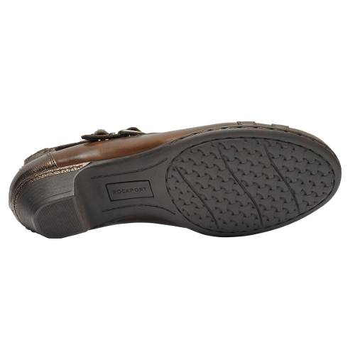 BROWN MULTI ABBOTT CURVY SHOE - Perspective 4