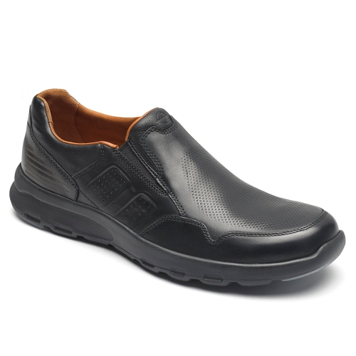 BLACK LETS WALK SLIP-ON