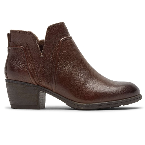 TAN ANISA VCUT BOOTIE - Perspective 2
