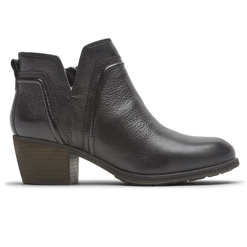 BLACK ANISA VCUT BOOTIE - Perspective 2