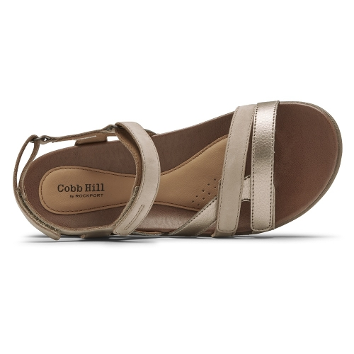 TAUPE RUBEY INSTEP STRAP - Perspective 3