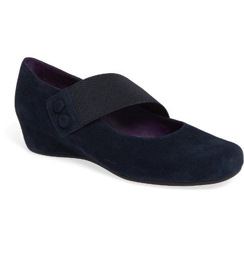 NAVY SUEDE MABLE