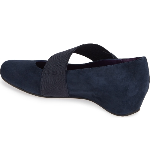 NAVY SUEDE MABLE - Perspective 2