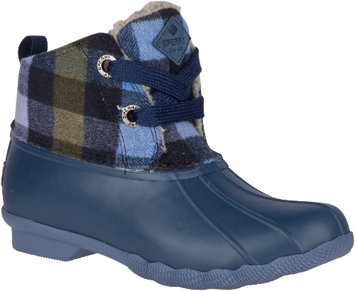 NAVY/LILAC SALTWATER 2-EYE PLAID